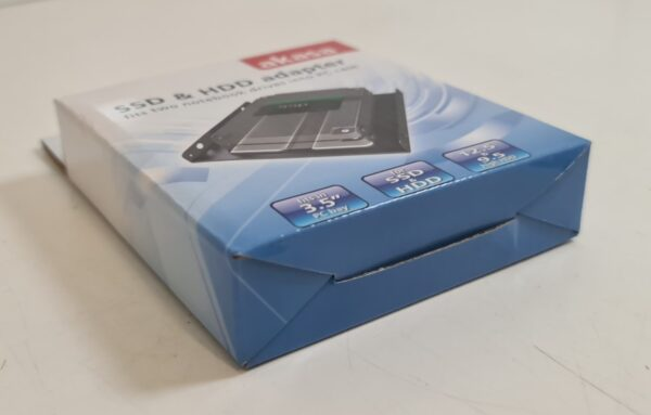 Front of Akasa SSD & HDD Adaptor Box Facing Right